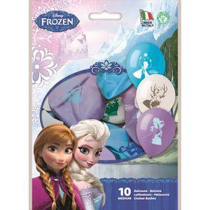 BALLE - BOULE - BALLON Lot De 10 Ballons Frozen La Reine Des Neiges