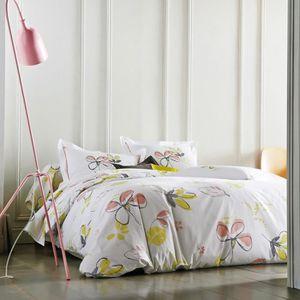 Dreamscene Lola g/éom/étrique Housse de Couette avec taie doreiller r/éversible Parure de lit Multicolore double//200/x 200/cm