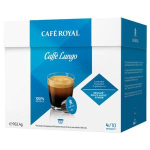 CAFÉ Café Royal Lungo Compatible Dolce Gusto (lot de 64