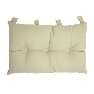 COUSSIN Tête de lit coussin 100% coton uni - 50x70 cm - Bl