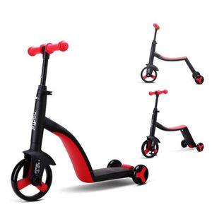 DRAISIENNE Rouge Enfants Scooter Tricycle bébé 3 en 1 Balance