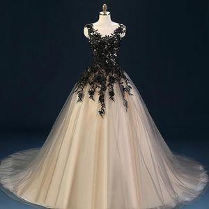 ROBE DE MARIÉE HUIXIN®Noir Robes De Mariée robe de Bal Tulle Dent
