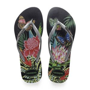 TONG Havaianas Slim Tropical Tongs Graphite Noir Taille