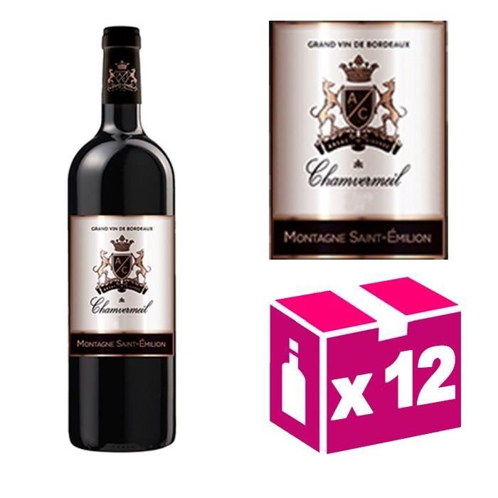 AOC Montagne St Emilion 2012 vin rouge – Carton de 12 bouteilles