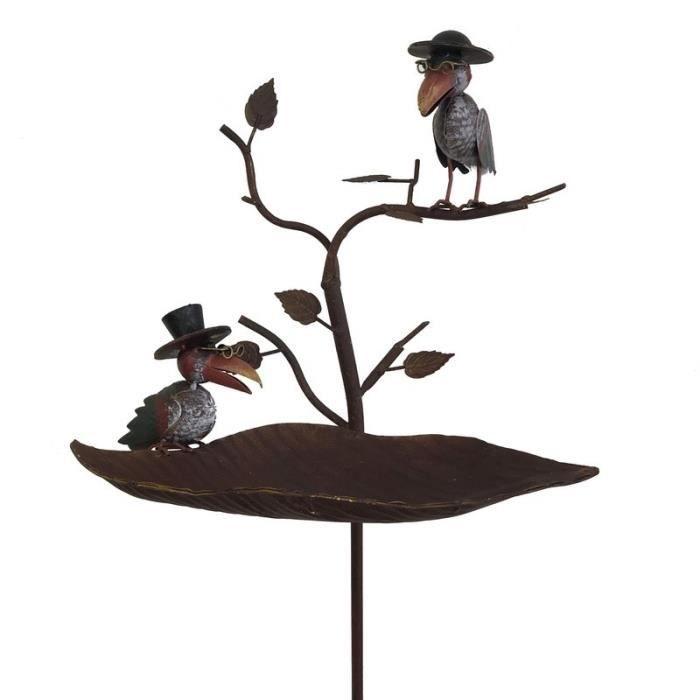 Mangeoire Oiseaux de Jardin 139 cm x 41 cm x 24 cm - 35-Tuteur