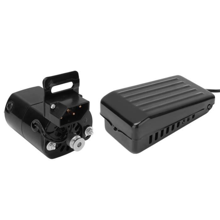 RIN Pédale de pied moteur pour machine à coudre 180W (prise UE 220V)