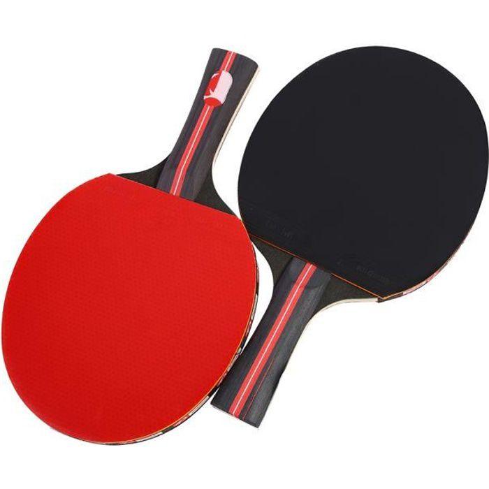Raquettes de Ping-pong Professionnel 1 Paire plaquette de Tennis de Table avec le Sac de Stockage
