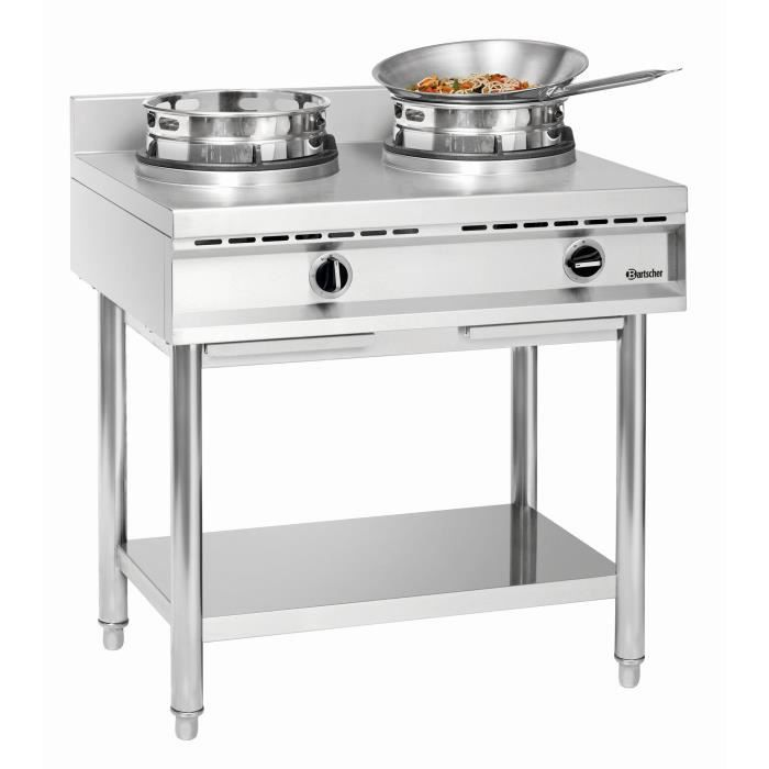 Cuisinière à wok, 2 brûleurs