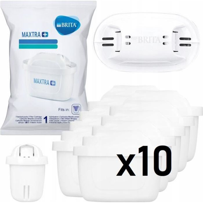 BRITA Pack de 10 cartouches MAXTRA+ pour carafes filtrantes, Pack 10