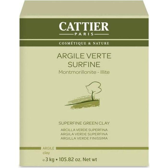 CATTIER Argile Verte Surfine 3 kg