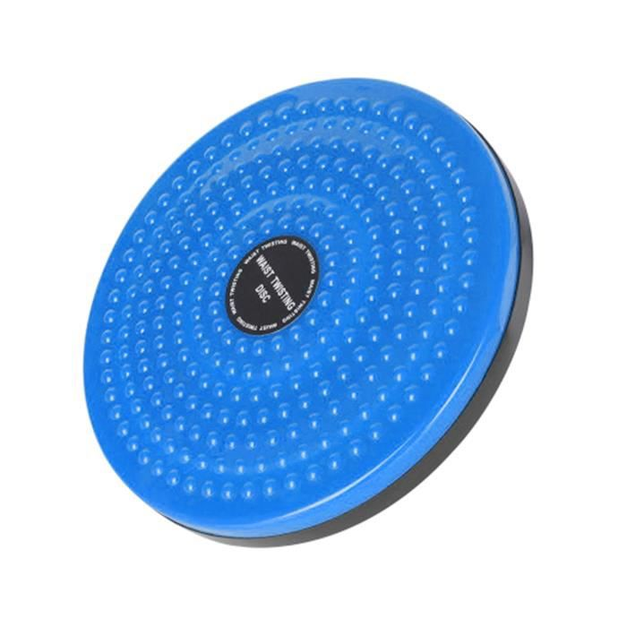 Exercice Twist Board Taille Twist Board Disque Sports d'intérieur Yoga Taille Twisted Disk Balance Board pour Fitness Bleu