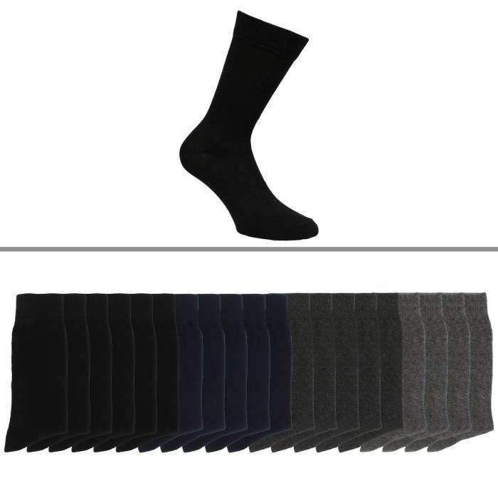 Chaussettes homme lot de 20