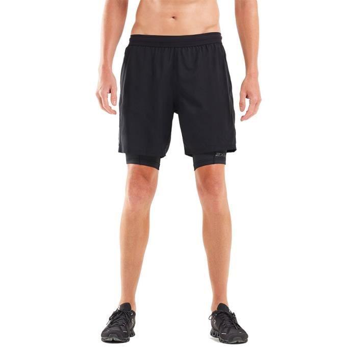 2XU Hommes XVENT 7- 2 in 1 Compression Short Bermuda Sport Pants Trousers Bas De