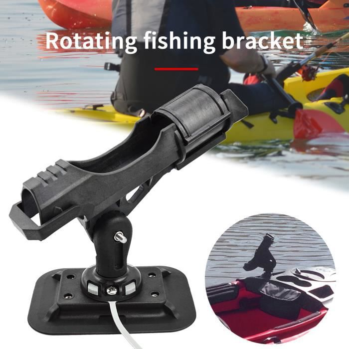 Kayak Bateau gonflable Bateau à double usage Prise de pêche à la tige de pêche réglable Support de canne réglable pour kayak