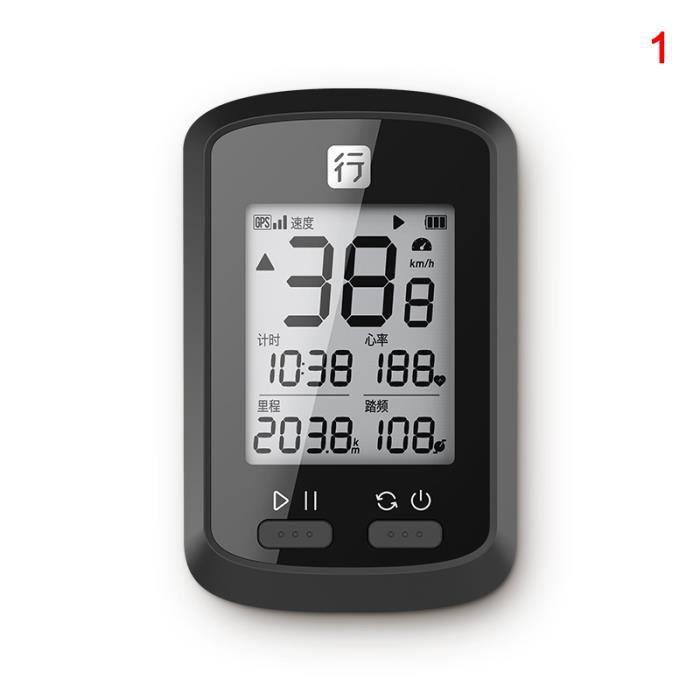 GPS de Vélo Affichage LCD Compteur de Vitesse Odomètre Vélo De Montagne De Route pour vélo de route VTT étanche - style 1