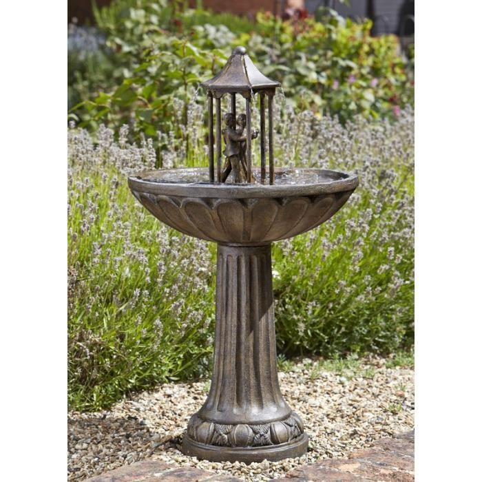 Fontaine solaire bain d oiseau Couple Dansant