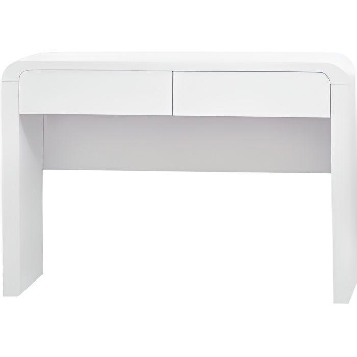 Console 2 tiroirs Laqué Blanc ORNELLA