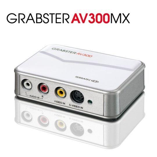 Terratec Adaptateur de capture vidéo Usb Grabster Av300mx Usb 2.0 Format de vidéo : Ntsc, Secam, Pal