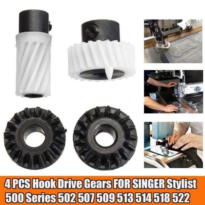 4PCS Machine à coudre Engrenage d'entraînement à crochet Pour SINGER Stylist 500 Series 502 507 509 513 514 518 522