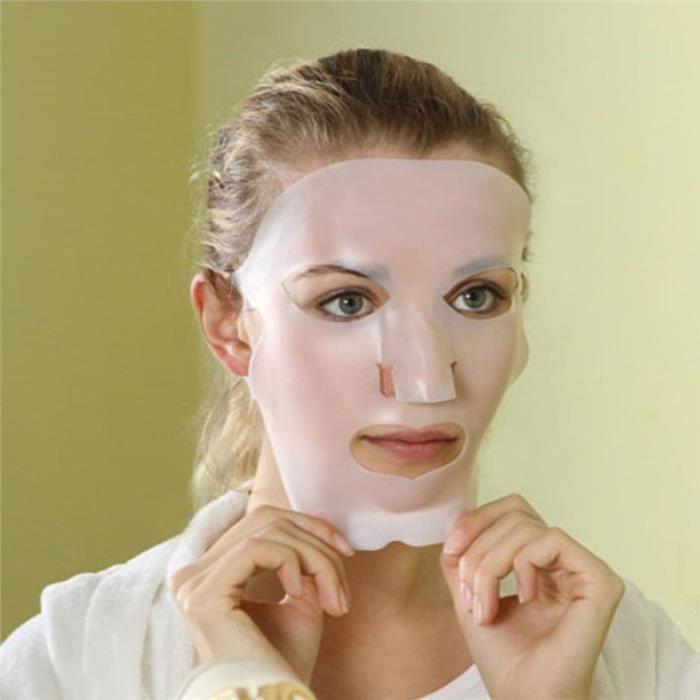 Masque Facial De Beauté Silicone Réutilisable Etanche(Transparent)