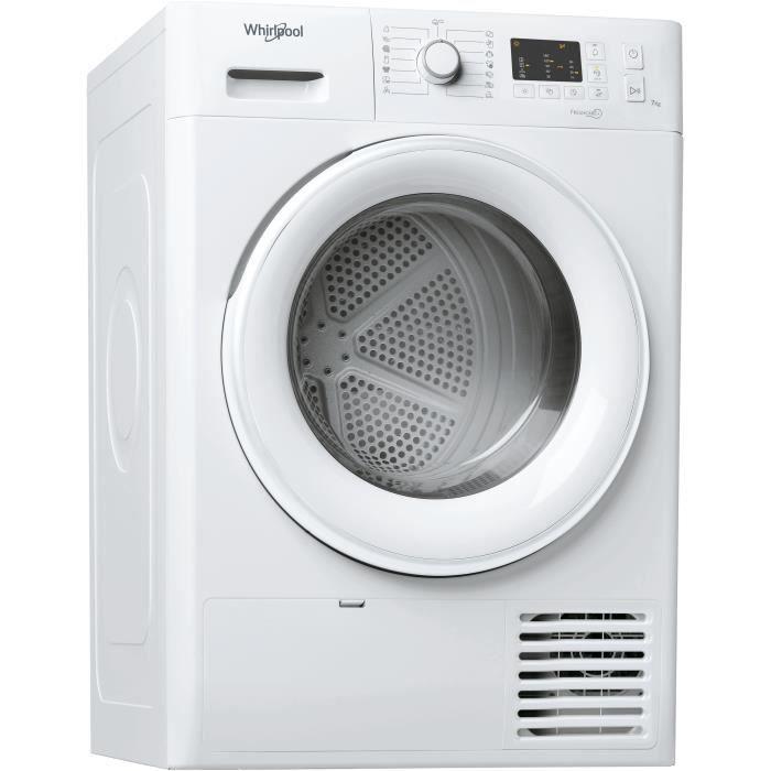 Sèche-linge à condensation WHIRLPOOL FTCM107BEU - 7 kg - Classe B - Blanc