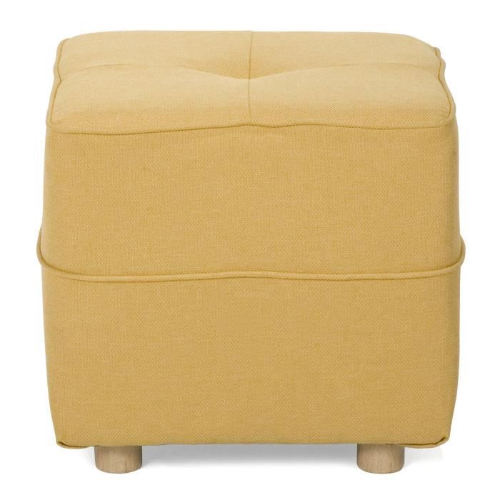 vicky canap pouf jaune jaune achat vente canap. Black Bedroom Furniture Sets. Home Design Ideas