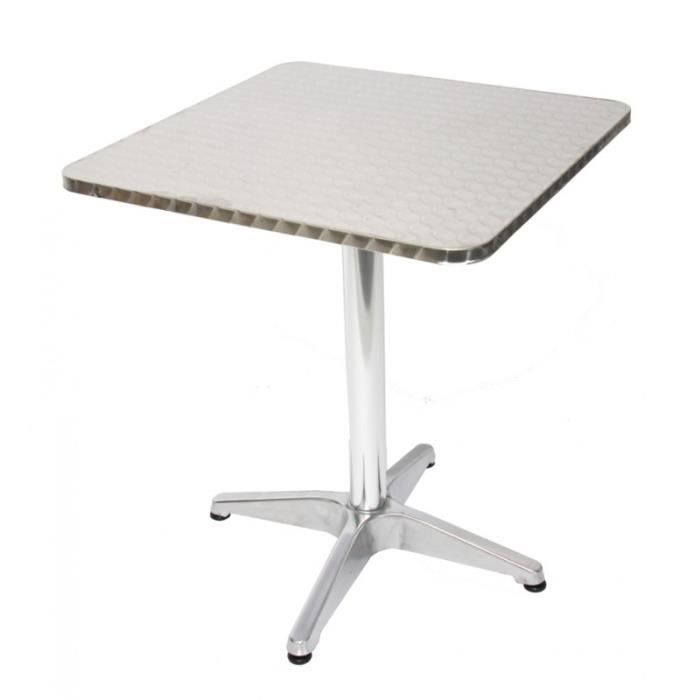 Table bistrot aluminium achat vente table bistrot for Table de bistrot pliante