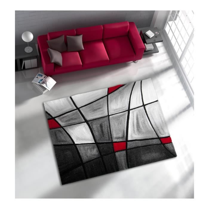 tapis gris et rouge. Black Bedroom Furniture Sets. Home Design Ideas