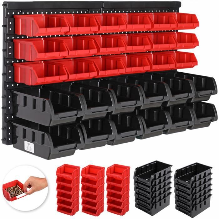 Lot de 63 M en noir et orange boites avec supports