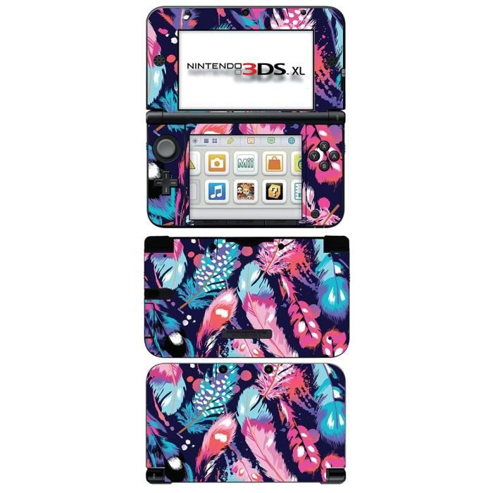 skin stickers pour nintendo 3ds xl sticker feathers. Black Bedroom Furniture Sets. Home Design Ideas