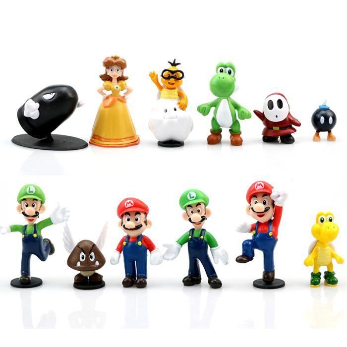 12 Pcs Lot Dessin Anime Super Mario Bros Figurines D Action Collection Jouet Luigi Mario Yoshi Daisy Pvc Modele Poupee Voiture Achat Vente Figurine Personnage Cdiscount