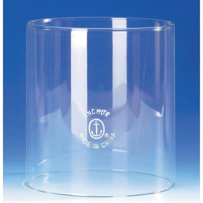 Cylindre de rechange en verre satin/é lampe /à huile en verre transparent Hauteur 23 cm Diam/ètre inf/érieur 4,2 cm Largeur 8,6 cm Oberstdorfer Glash/ütte