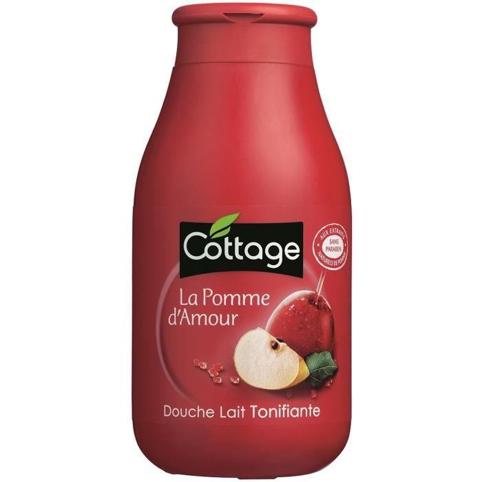 GEL - CRÈME DOUCHE COTTAGE Douche Lait Tonifiante La Pomme d'Amour -