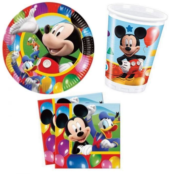 Kit anniversaire mickey pour 8 achat vente kit de for Decoration maison mickey