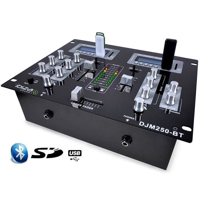 table de mixage djm 250 2 canaux usb sd bluetooth table de mixage avis et prix pas cher. Black Bedroom Furniture Sets. Home Design Ideas