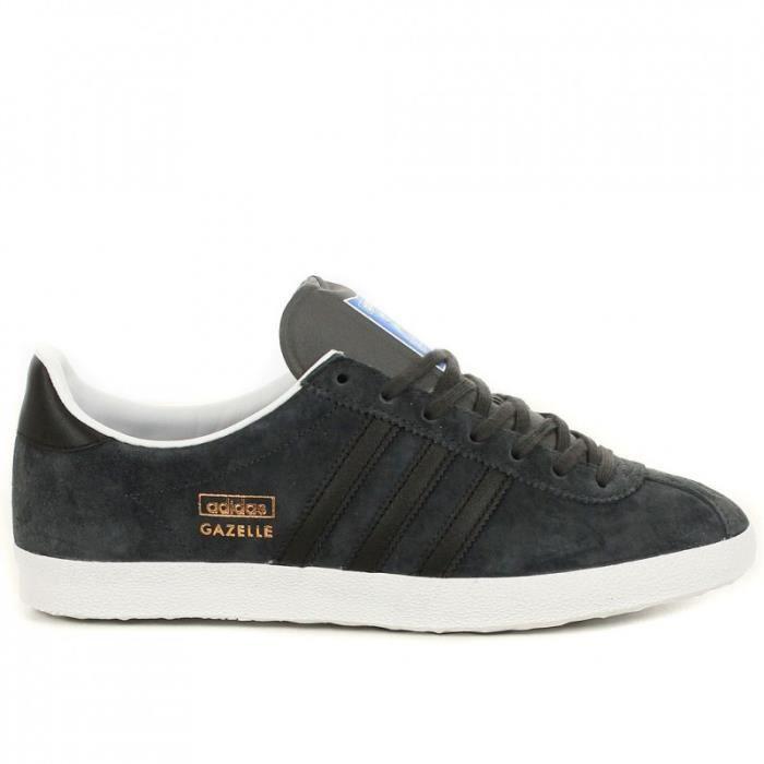 Adidas GAZELLE OG Gris fonce/noir ADIDAS - Cdiscount Chaussures