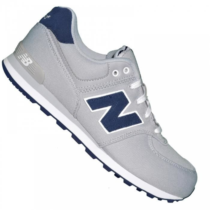 new balance basket sneakers femme nb 574 ssg gris bleu marine gris gris achat vente. Black Bedroom Furniture Sets. Home Design Ideas