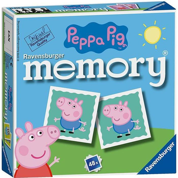 Ravensburger Peppa Pig Mini Jeu De Memoire 21376 Achat Vente Jeu Societe Plateau Cdiscount