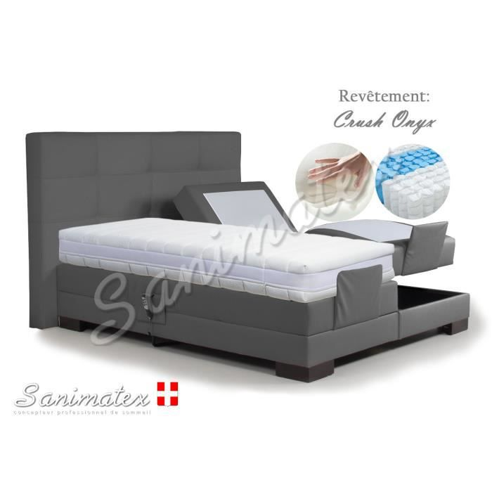 lit electrique boxspring 160x200 guatemala amazonia kaki achat vente lit complet lit. Black Bedroom Furniture Sets. Home Design Ideas