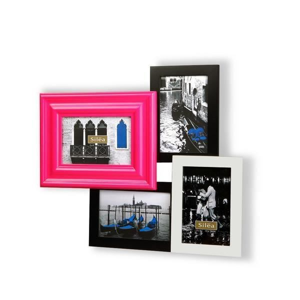Cadre photo mural multiple design multicolore achat for Cadre multi photos mural