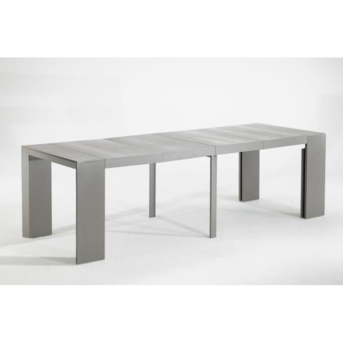 Table console extensible extenso gris vintage 10 achat vente table mang - Table a manger console extensible ...
