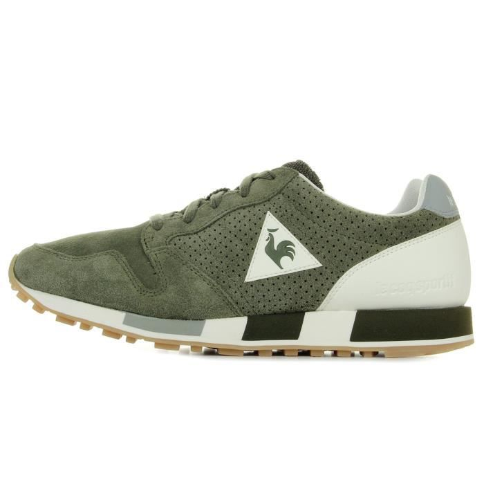 "Baskets Le Coq Sportif Omega Premium ""Olive Night"""