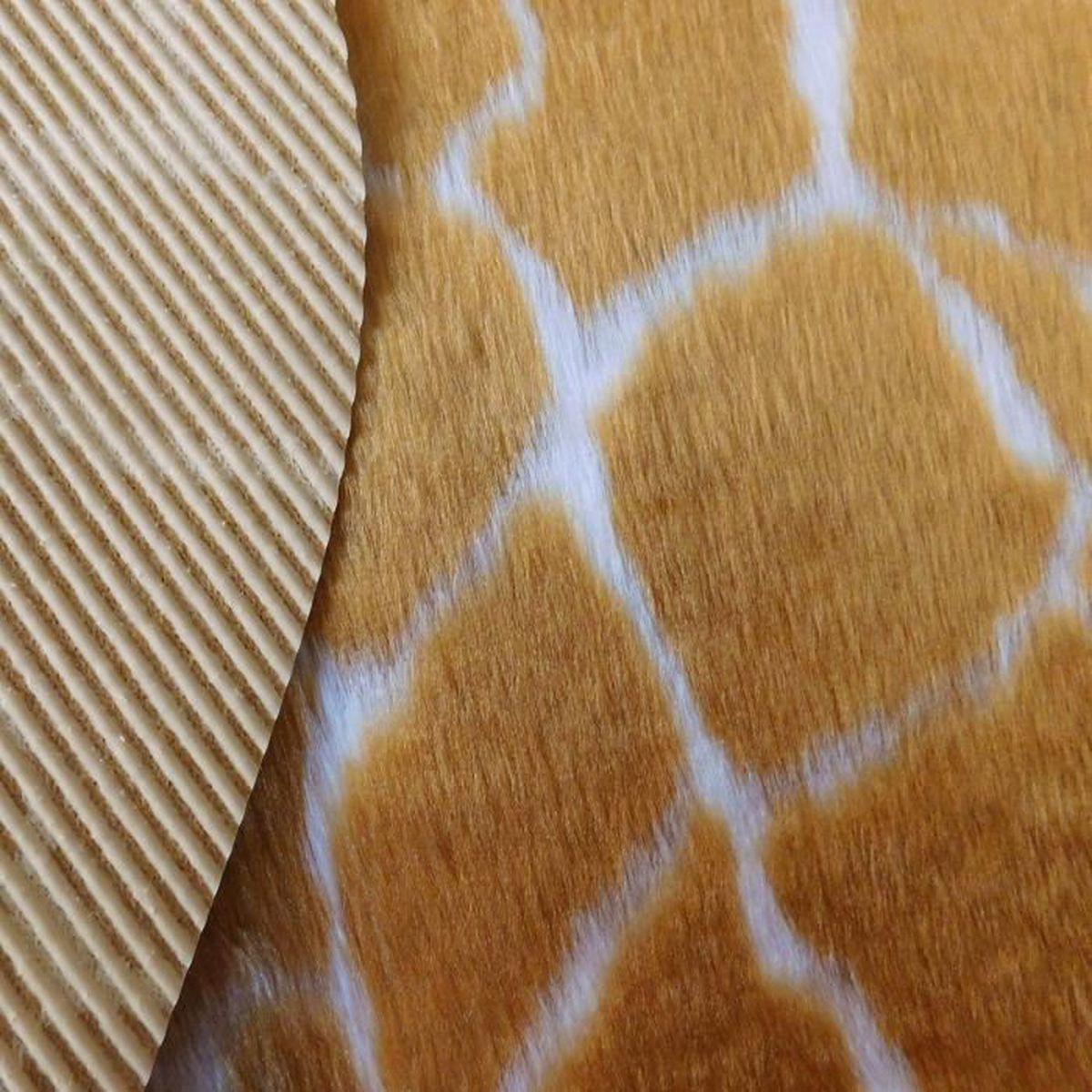 Girafe en fourrure synthétique 150x220 cm noir et blanc