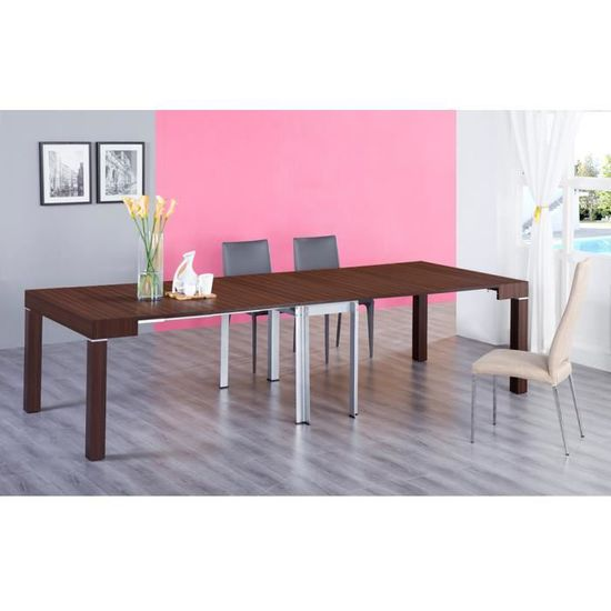 Table Vente 3m Stacy Console Achat Bois Marron Extensible MUSGVpqz