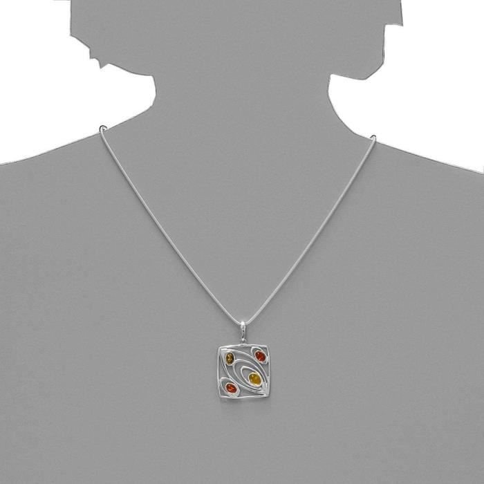 In Collections - 541a20g033l630 - Collier Femme - Argent 925-1000 - Ambre BODNB