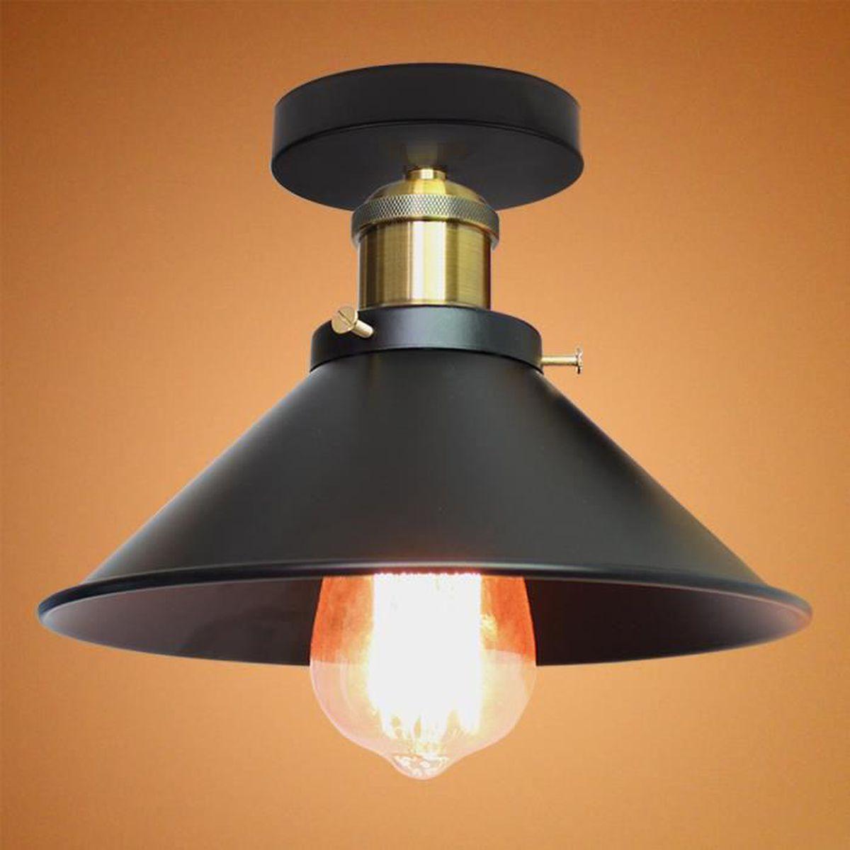 Luminaire Pour Couloir D Entrée chapeau plafonnier en métal e27 pour chambre couloir
