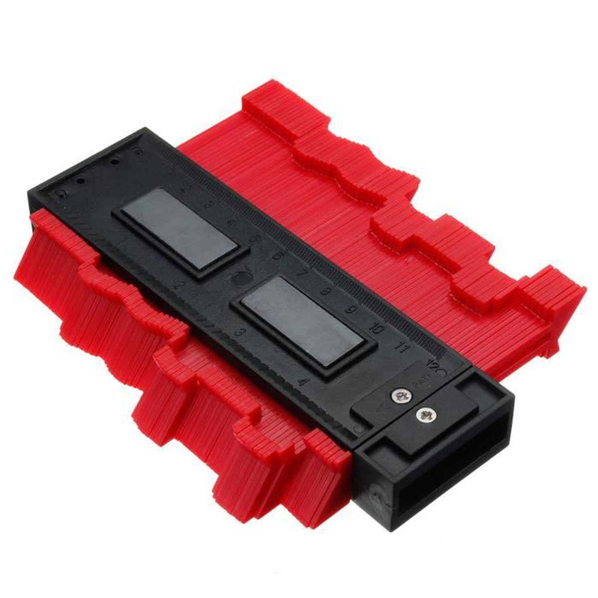 Plastique Gauge Contour Profil copie Gauge Duplicateur Bois Carrelage Marquage Outil