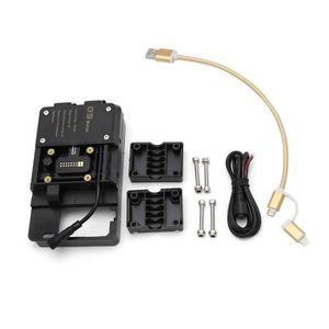 pour Honda Africa Twin Xploit Accessoires de Support de Navigation de t/él/éphone Portable avec Chargeur USB pour BMW R1200GS ADV F700 800GS CRF1000L