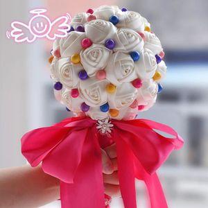 BOUQUET MARIÉE TISSU 16cm*25cm S fleur bouquet de mariage pour mariee b