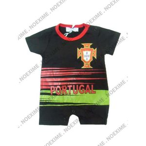 MAILLOT DE FOOTBALL BODY PORTUGAL NOIR 6/9 MOIS